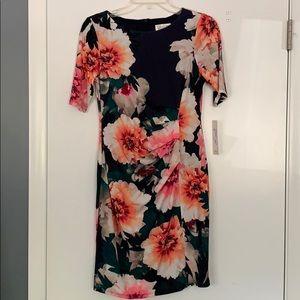 Eliza J floral ruched dress
